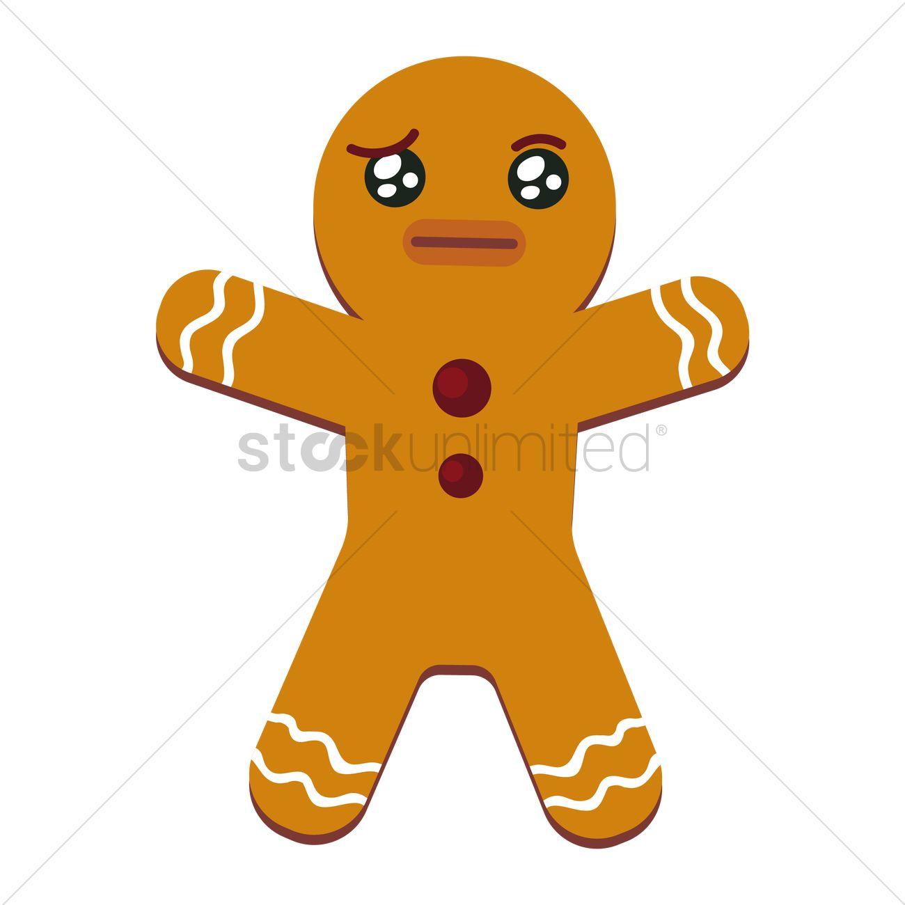1300x1300 Gingerbread Man Vector Image