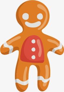 218x315 Vector Painted Gingerbread Man, Man Vector, Man Clipart, Vector