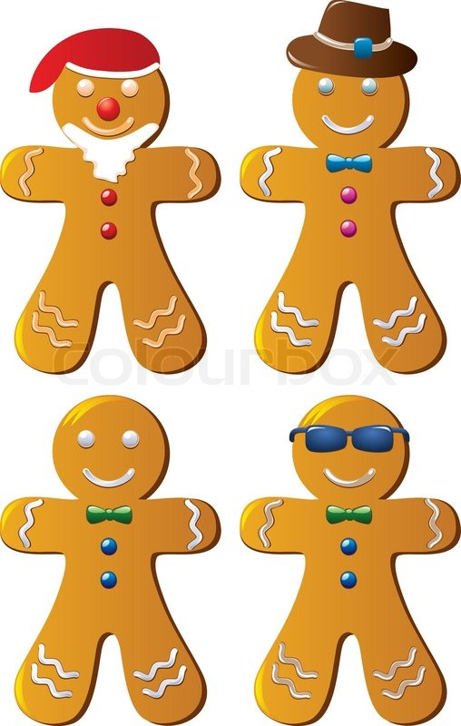508x800 Four Variants Of Vector Gingerbread Cookies Stock Vector Colourbox