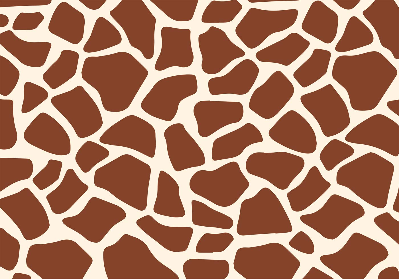 1400x980 Giraffe Print Free Vector Art