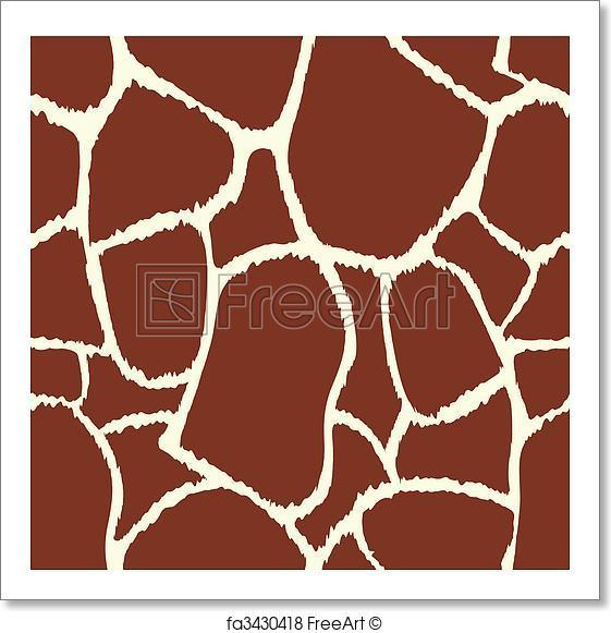 561x581 Free Art Print Of Giraffe Vector Seamless Pattern Texture