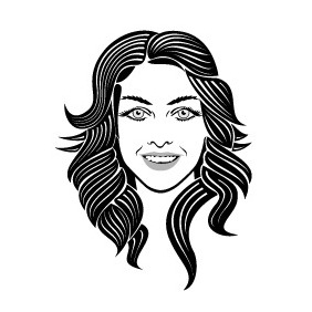 282x282 Girl With Face Tattoo Vector Free Vector Download 216281 Cannypic