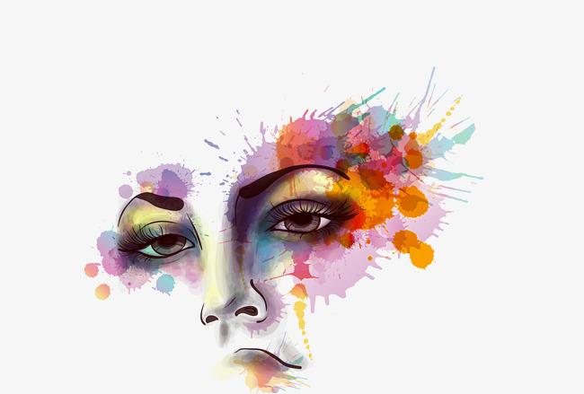650x439 Vector Color Creative Girl Face, Color Vector, Girl Vector, Face