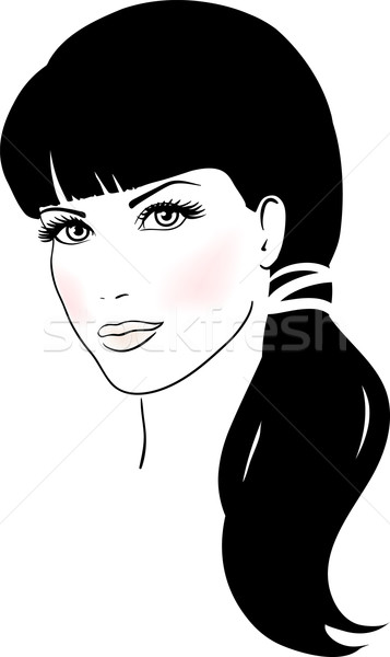 357x600 Beautiful Cute Girl Face Vector Illustration Vector Illustration