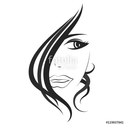 500x500 Beautiful Girl Face Vector Stock Image And Royalty Free Vector