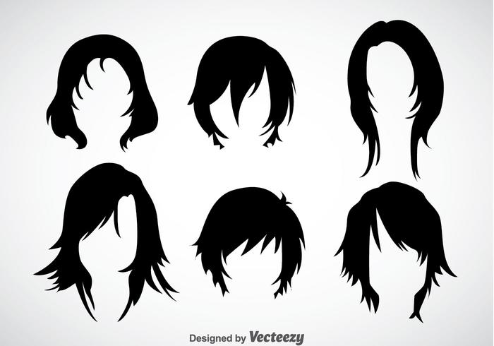 700x490 Girl Hairstyles Vector Sets