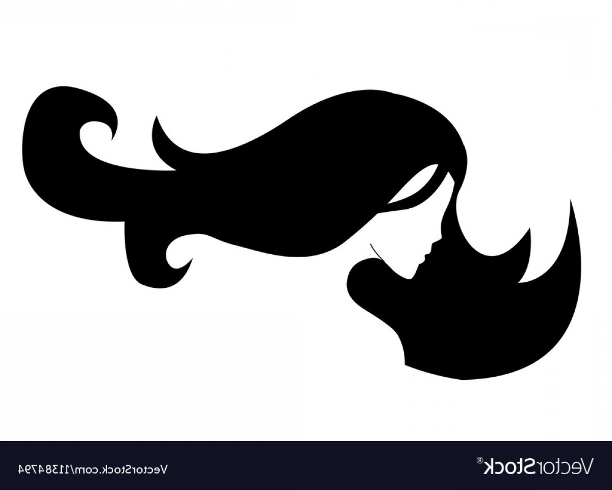 1200x960 Silhouette Of A Girl In Profile With Long Hair Vector Geekchicpro