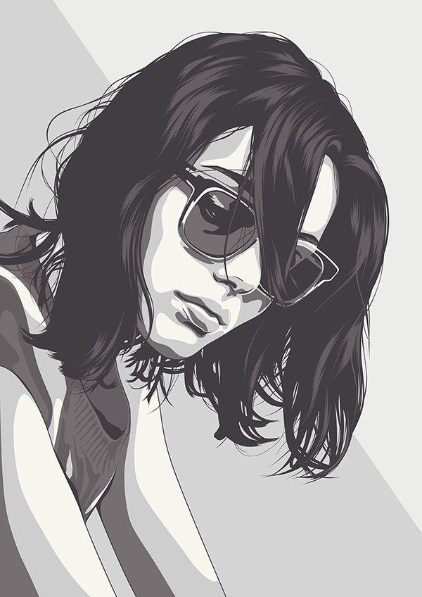 600x848 Girl Vector Portrait