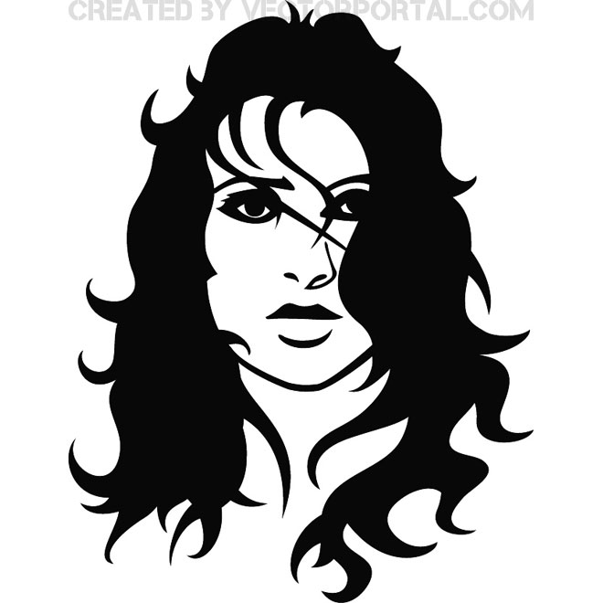 660x660 Afro Hair Girl Free Vector 123freevectors