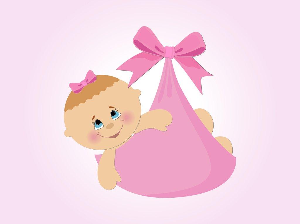 1024x765 Baby Girl Vector Cartoon Vector Art Amp Graphics