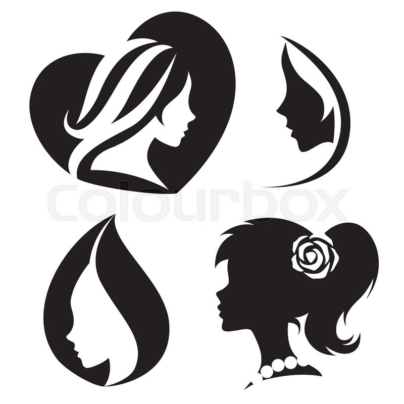 800x800 Vector Template Abstract Logo For Woman Salons And Shops. Stylized
