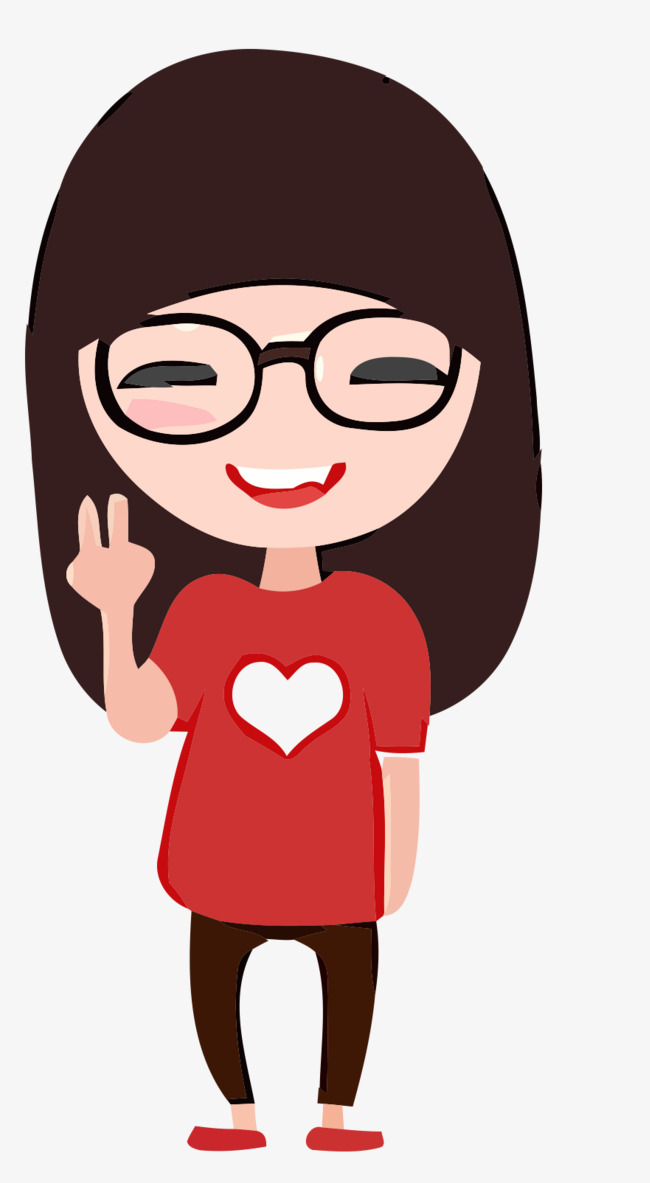 650x1183 Wearing Glasses And Laughing Girl, Glasses Vector, Girl Vector