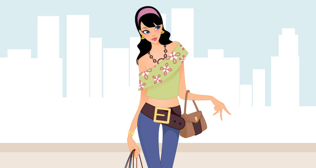 640x340 Fashion Shopping Girls Vector Art Vector Illustrations Pixeden