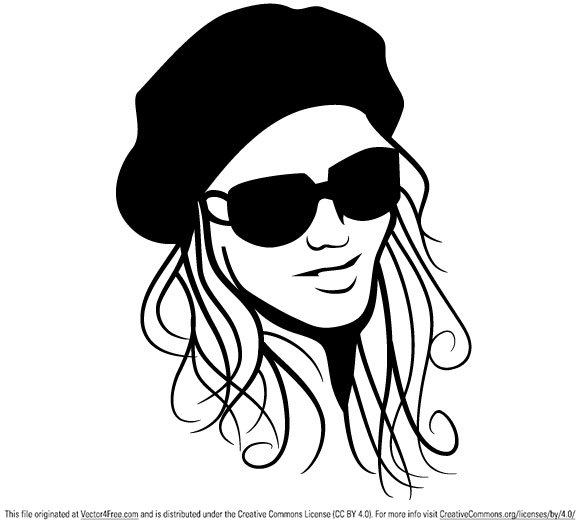 580x528 Free Girl Vector Graphics