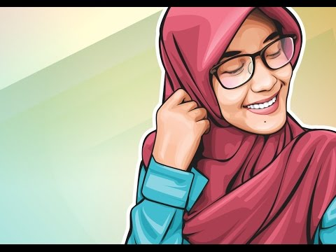 480x360 How To Draw Vector Art In Coreldraw Cute Girl Wearing Hijab