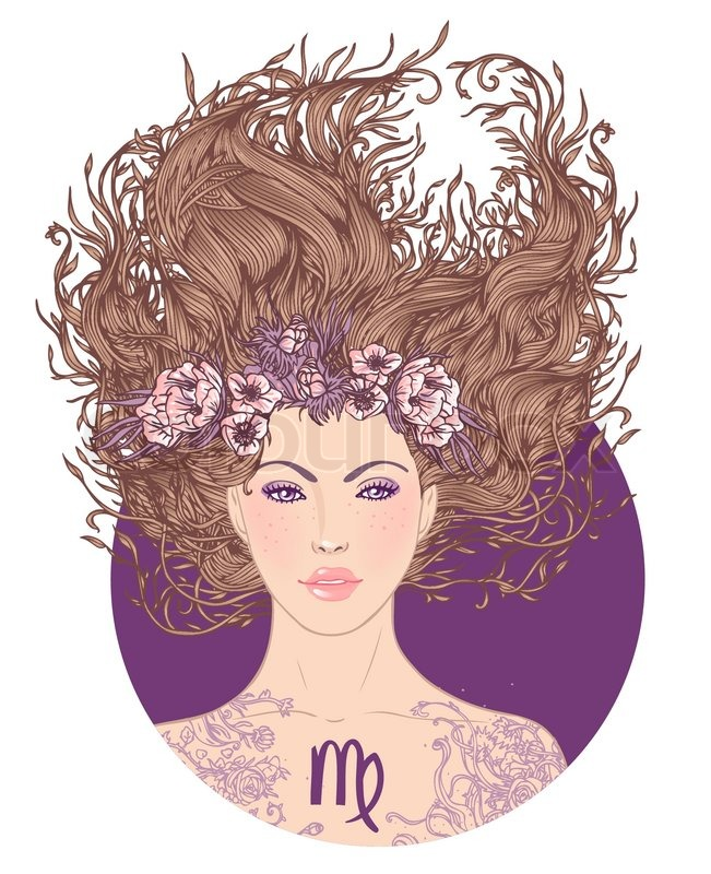 651x800 Illustration Of Virgo Astrological Sign As A Beautiful Girl