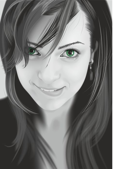 467x700 Portrait Girl Vector Art