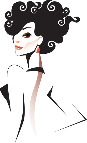 365x600 Set Of Fashion Girl Vector Graphic Free Vector In Encapsulated
