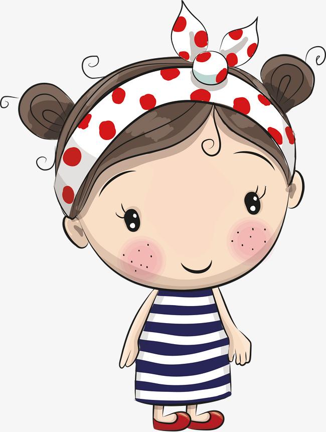 650x861 Cute Little Cartoon Girl Vector, Vector, Cartoon, Lovely Png And
