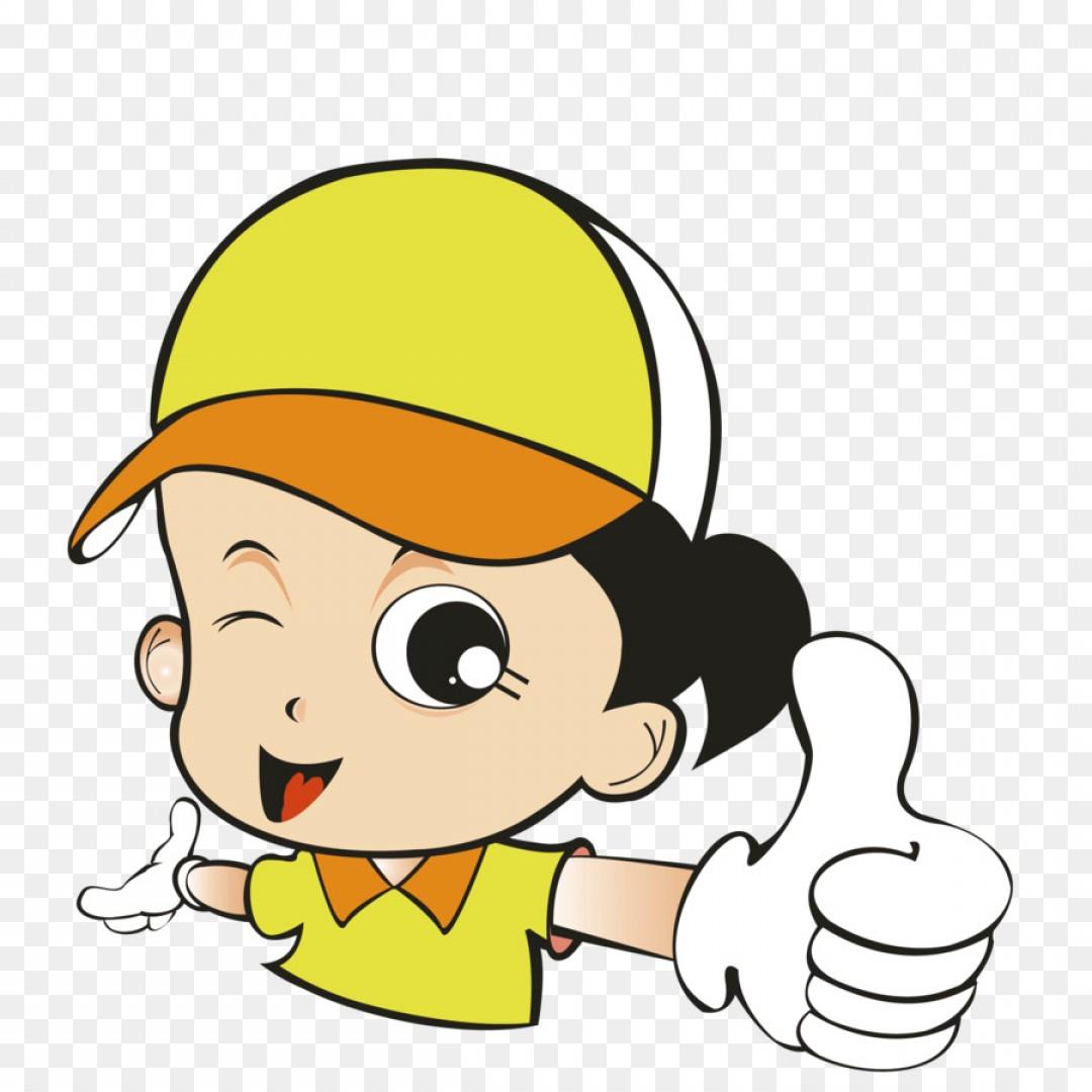 1080x1080 Png Thumb Signal Cartoon Thumbs Up Cartoon Girl Vector Shopatcloth