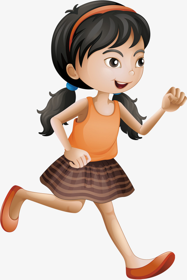 650x975 Running Girl, Running Vector, Girl Vector, Vector Png Png And