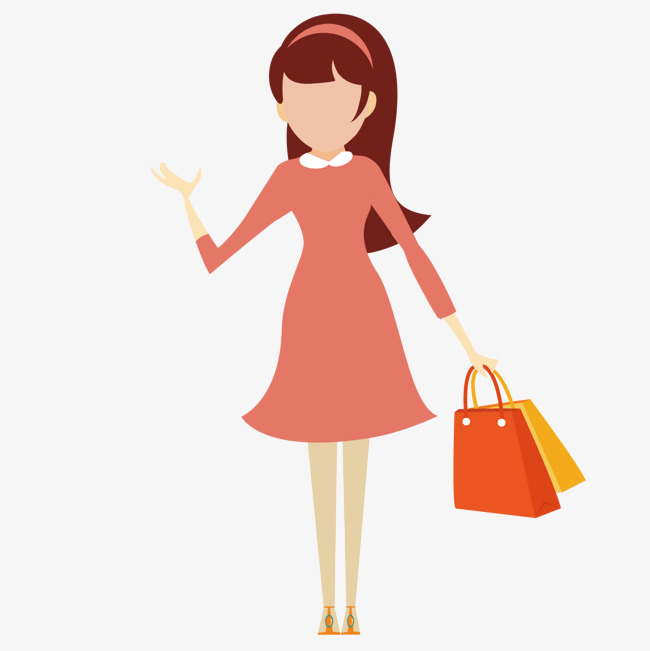 650x651 Shopping Girl, Shopping Vector, Girl Vector, Shopping Png And