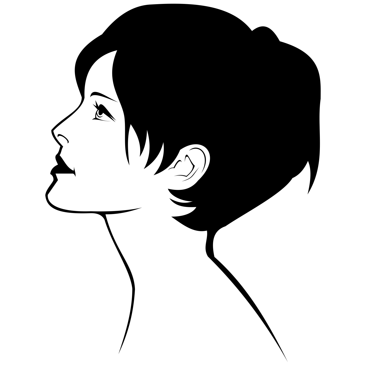 1500x1500 Vector For Free Use Profile Of Girl Vector
