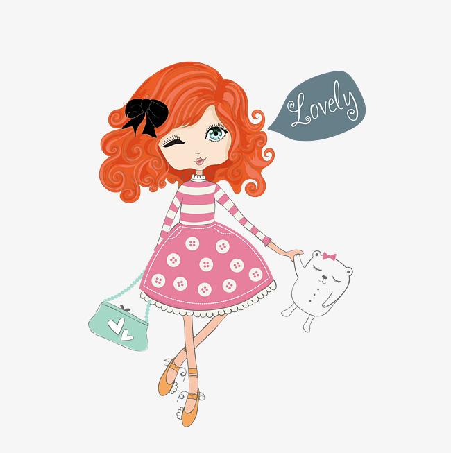 650x653 Cartoon Cute Little Girl Vector, Cartoon Vector, Girl Vector