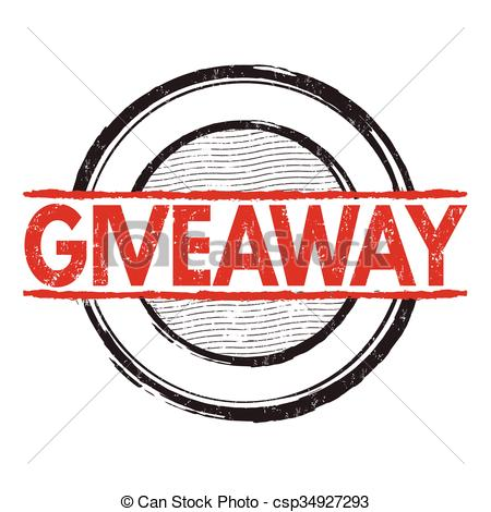 450x470 Giveaway Grunge Stamp. Giveaway Grunge Rubber Stamp On White