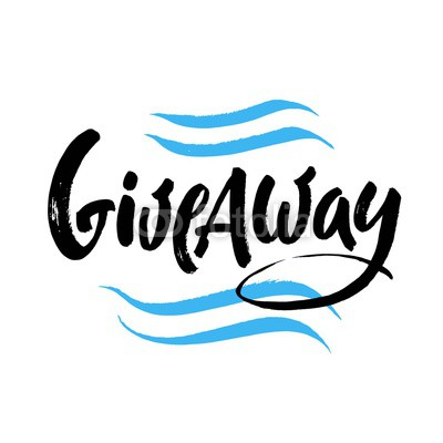 400x400 Giveaway Vector Lettering Illustration. Hand Drawn Phrase