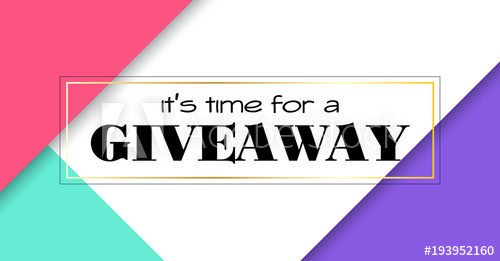 500x261 Time For Giveaway. Vector Banner For Social Media Promotion