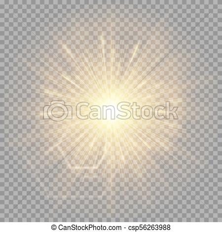 450x470 Explosion Of A Golden Star With A Glare. A Bright Golden Flash Of