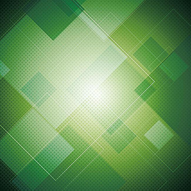 650x650 Vector Green Geometric Background Glare, Vector, Geometry, Green