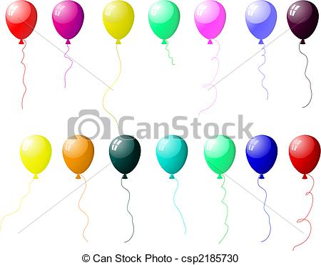 450x372 Colourful Balloons Set With Glare. Beautiful Colour Balloons Set