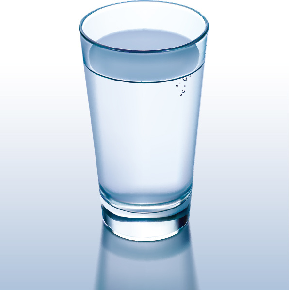 596x598 Glass Cup And Water Vector Free Vector In Encapsulated Postscript