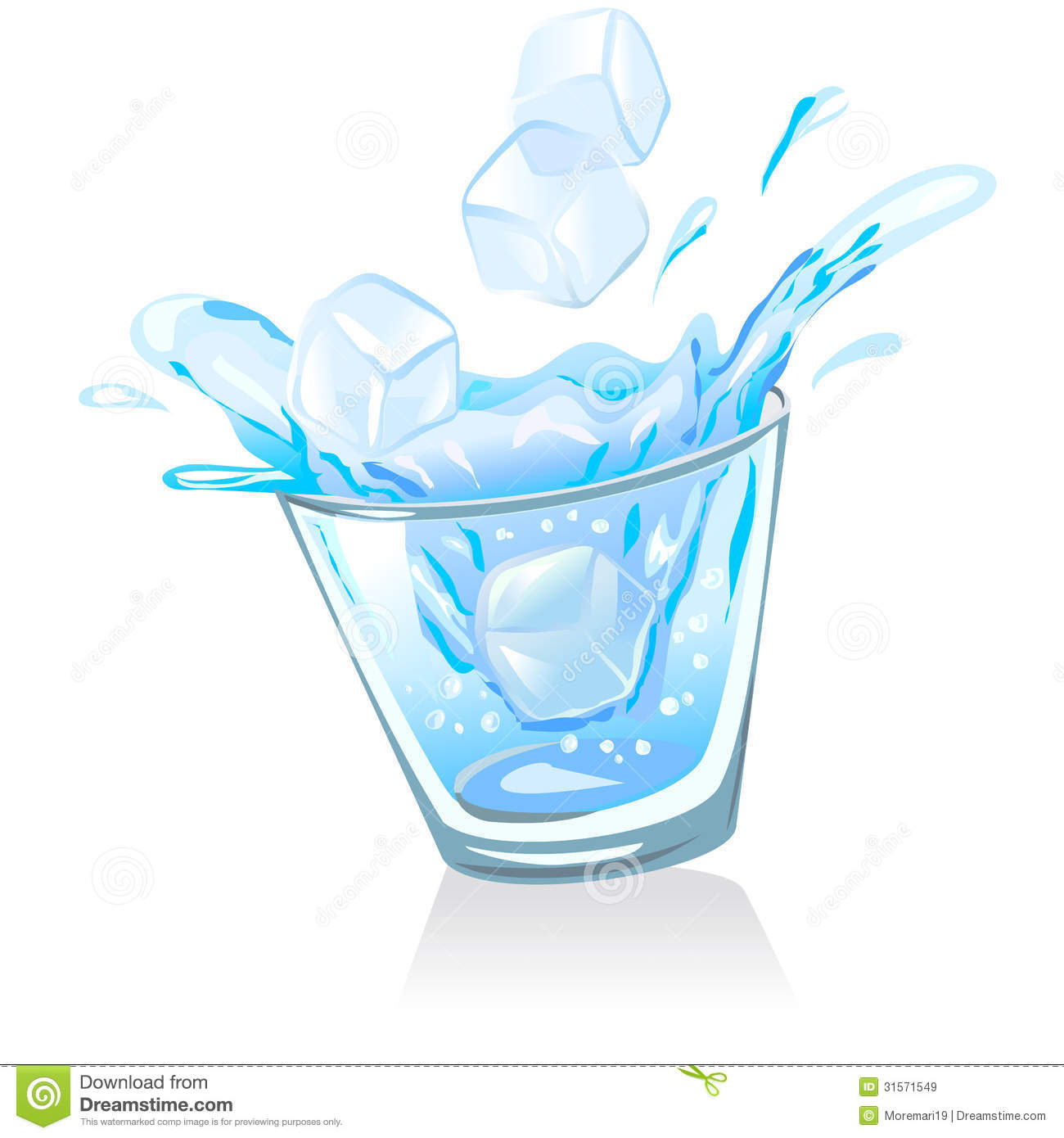 1300x1390 Blue Water Clipart Glass Water