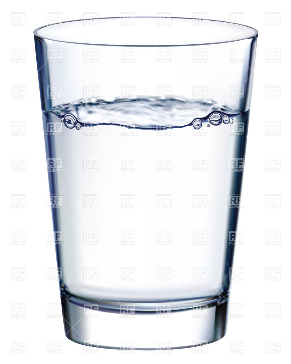 960x1200 Glass With Water Isolated N White Vector Image Vector Artwork Of
