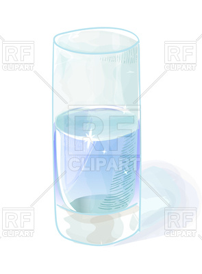 295x400 Watercolor Style Glass Of Water Vector Image Vector Artwork Of