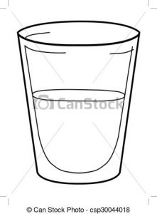 221x300 Glass Of Water Clipart Outline Illustration Of Glass Of Water