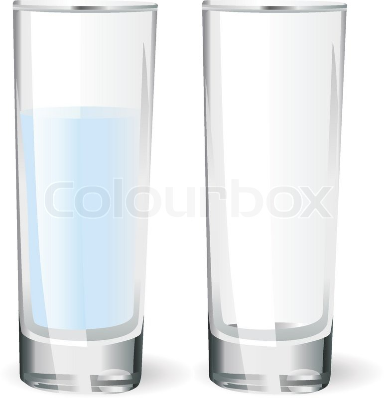 771x800 Empty Glass And A Glass With Water Stock Vector Colourbox
