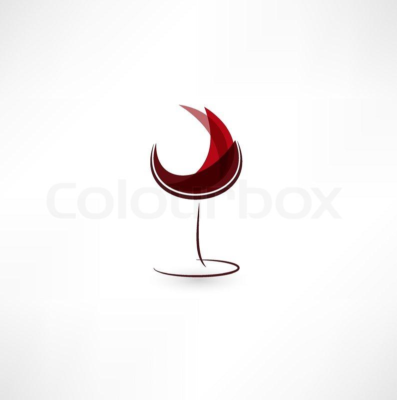 795x800 Glass Of Wine Icon Stock Vector Colourbox