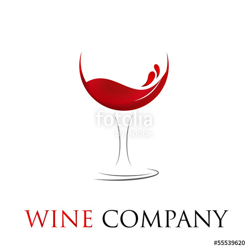 500x500 Vector Logo Glass Of Wine Stock Image And Royalty Free Vector