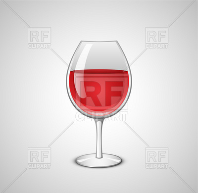 400x390 Wine Glass Vector Illustration. Wineglass With Red Wine Vector