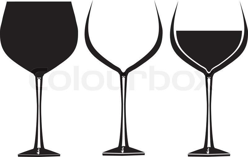 800x508 Wine Glasses In Graphic Vector For Use In Party Or Restaurant