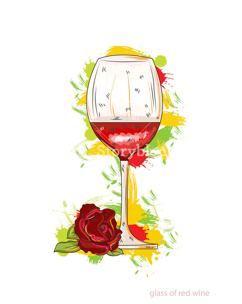 796x1000 Glass Of Red Wine Vector Illustration Royalty Free Stock Image