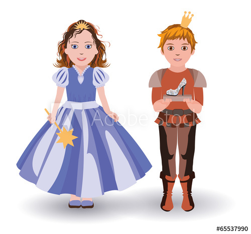 500x467 Cinderella Princess And Prince With Glass Slipper Vector