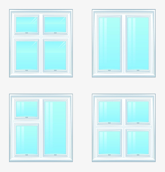 563x587 Glass Window Vector Material, Window Clipart, Glazing, Vector Png