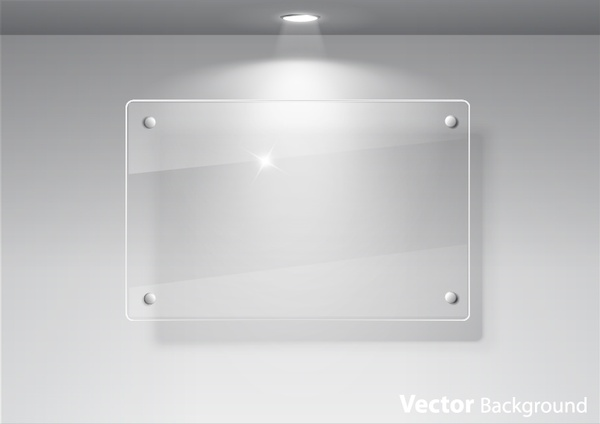 600x424 Glass Exhibition Window Glass Advertising Window Spotlights Vector