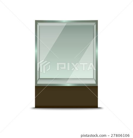 450x468 Realistic Glass Shop Window. Vector
