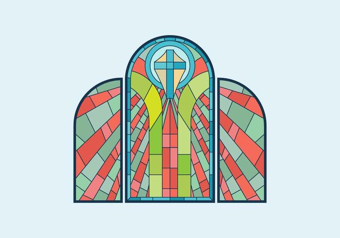700x490 Stained Glass Window Vector Illustration